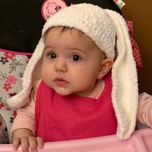 Other - Bunny Ears Hat SOFT crotchet fits 6-12 mo.s